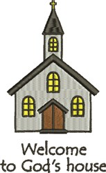 Gods House embroidery design