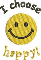 Choose Happy embroidery design