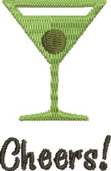 Martini Cheers embroidery design