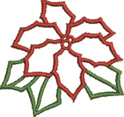 Pointsettia Outline embroidery design