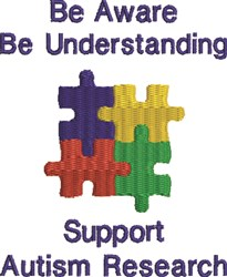 Autism Research embroidery design