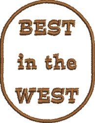 Best in West embroidery design