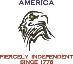 America Since 1776 embroidery design
