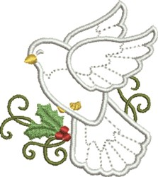 Holiday Dove embroidery design
