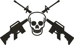 M16 Skull embroidery design