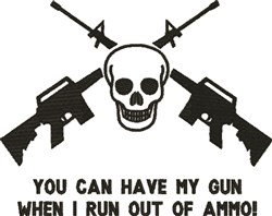 Out Of Ammo embroidery design