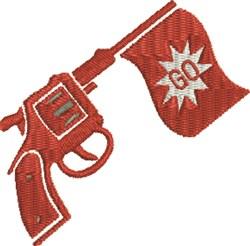 Starter Pistol embroidery design