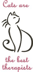 Cat Therapy embroidery design