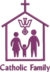 Catholic Family embroidery design