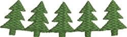 Christmas Tree Border embroidery design