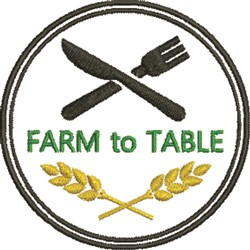 Farm to Table Patch embroidery design