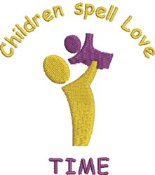 Children Time embroidery design