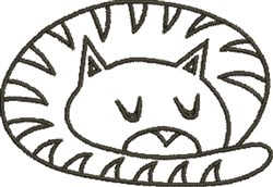 Sleeping Cat  embroidery design