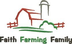 Faith Farming Family embroidery design