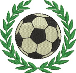 Laurel Soccer Ball embroidery design