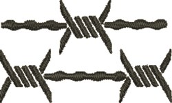 Barbed Wire Fence embroidery design