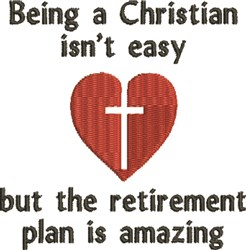 Christian Retirement embroidery design