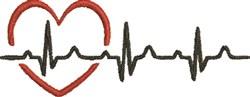 EKG Heart embroidery design