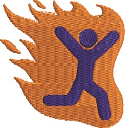 Man On Fire embroidery design