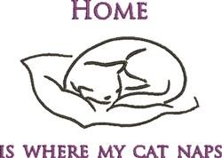 Cat Naps embroidery design