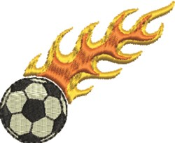 Flaming Soccer Ball embroidery design