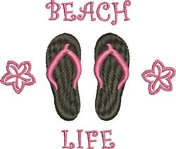 Beach Life Flip Flops embroidery design