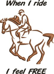 Horse & Rider Outline embroidery design