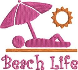 Girl Sunbather embroidery design