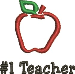 #1 Teacher embroidery design