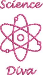 Science Diva embroidery design