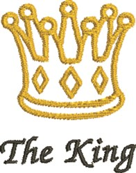 The King embroidery design