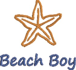 Beach Boy embroidery design