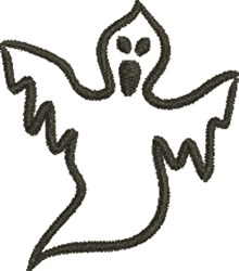 Ghost embroidery design