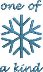 One Of A Kind Snowflake embroidery design