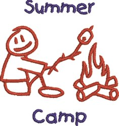 Summer Camp embroidery design