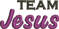 Team Jesus embroidery design