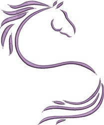 Artistic Horse Outline embroidery design
