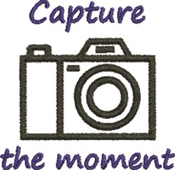 Capture The Moment embroidery design