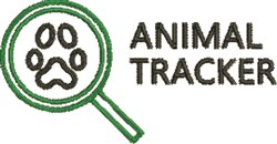 Animal Tracker embroidery design