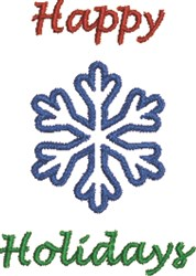 Small Snowflake Happy Holidays embroidery design