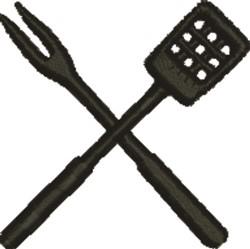 Fork & Spatula embroidery design