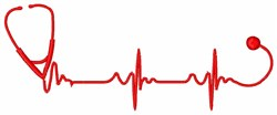 Stethescope Heartbeat embroidery design