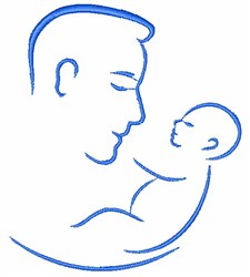 Father & Child embroidery design
