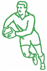 Ball Player Outline embroidery design