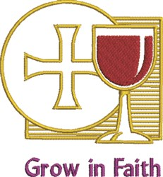 Grow In Faith embroidery design