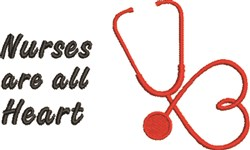Nurses Are All Heart embroidery design