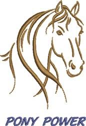 Pony Power embroidery design