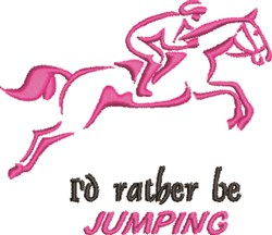 Rather Be Jumping embroidery design