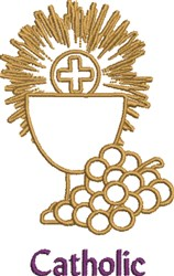 Catholic Eucharist embroidery design