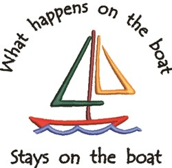 What Happens On The Boat... embroidery design